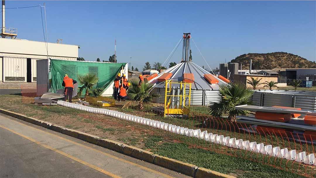 Obras Civiles Silos Planta Cannes Iansa Foods